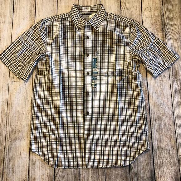 Carhartt Other - NWT Carhartt Relaxed Fit Medium Plaid Shirt S/S